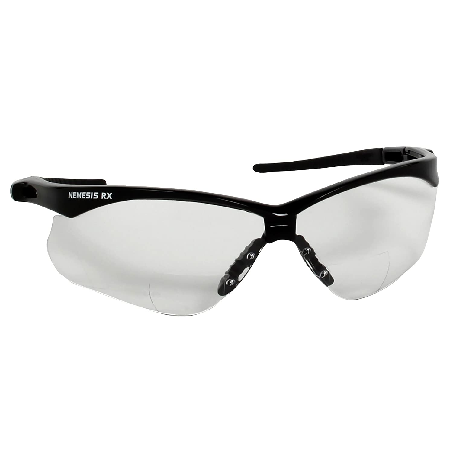 Jackson Safety 20558 V60 30-06 Readers Safety Glasses, IRUV Shade 5.0 Lenses with +2.0 Diopters, Black Frame (Pack of 6) by Jackson Safety B00982XV98