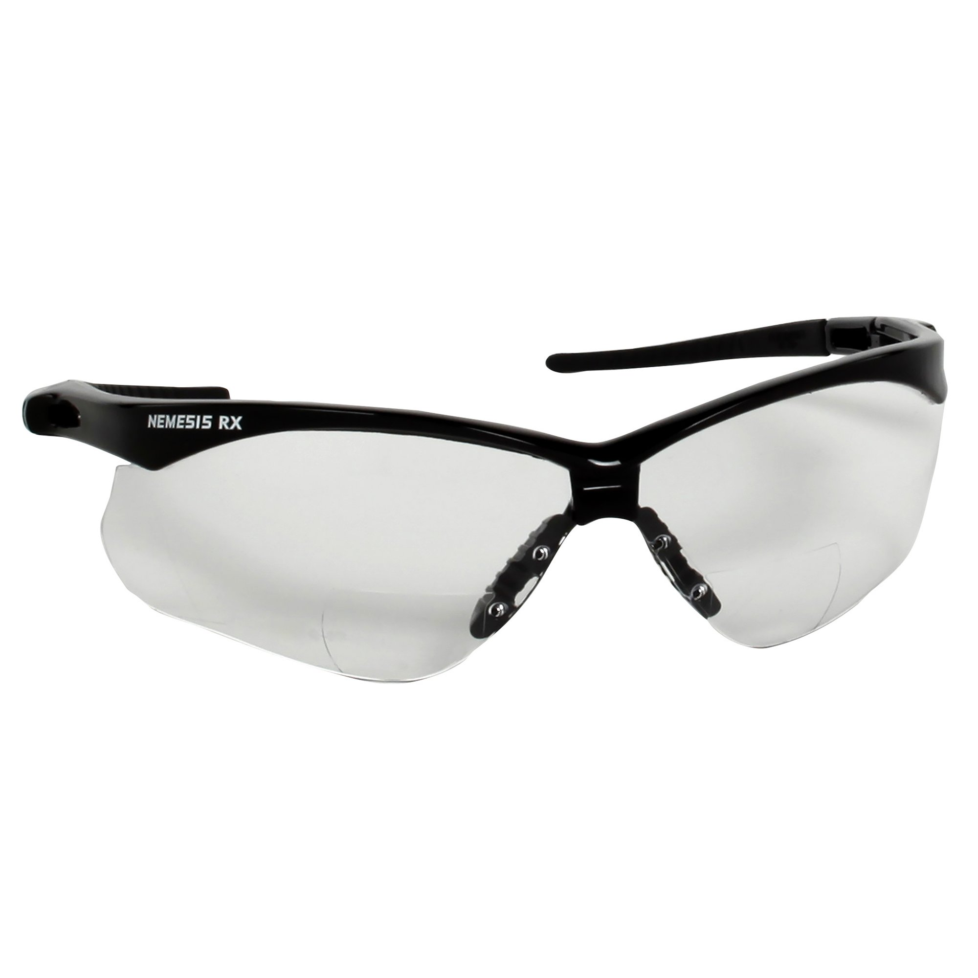 Jackson Safety V60 Nemesis Vision Correction Safety Glasses (28627), Clear Readers with +2.5 Diopters, Black Frame, 6 Pairs/Case