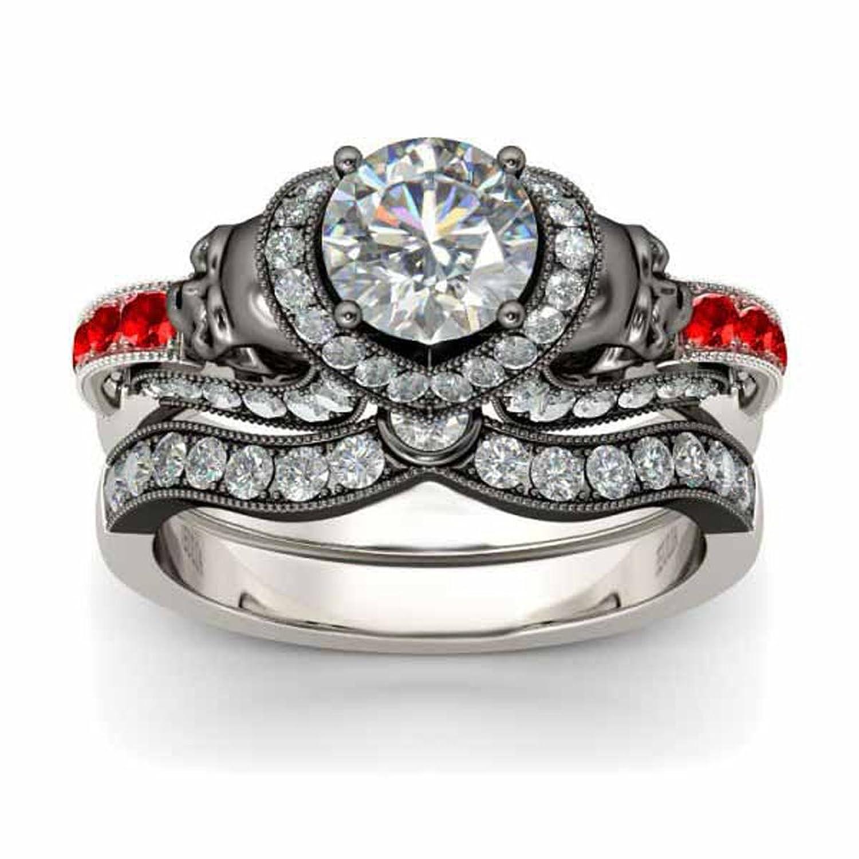 Amazon Com Silverczjewels 3 25ctt Red Garnet Clear Cz Diamonds