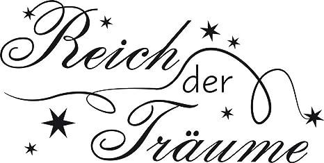 """Wandtattoo Spruch /""""Traum Reich/"""" Schlafzimmer Wandsticker Wanddeko Deko"""
