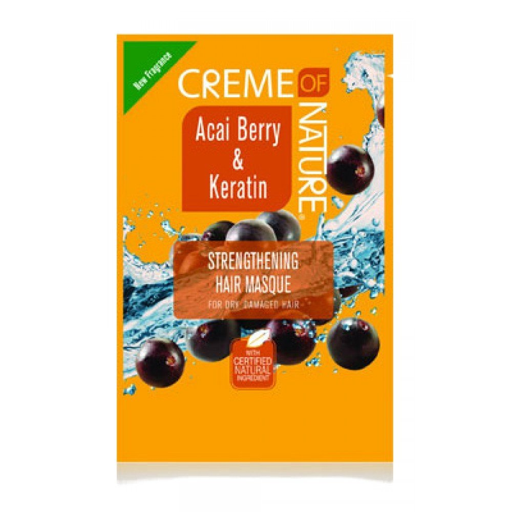 Creme of Nature Acai Berry Keratin Strengthening Hair Masque Mask Conditioners, 1.75 Ounce