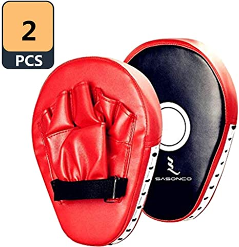 2pcs Boxing Hand Target Punch Pad MMA Muay Thai Taekwondo Focus Shield Glove