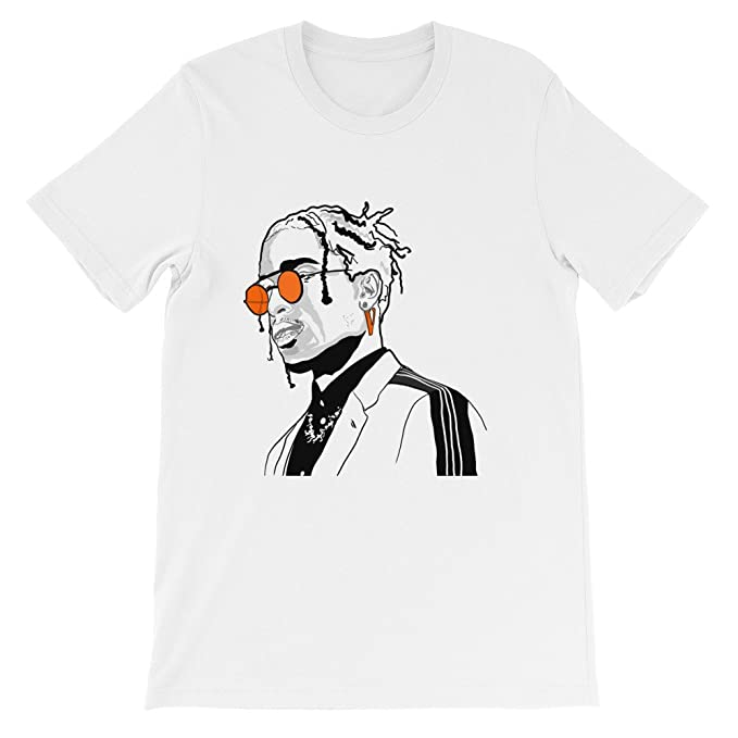 75ad70e28125 Amazon.com: AAP ASAP Rocky Vlone White Tee (Unisex): Clothing