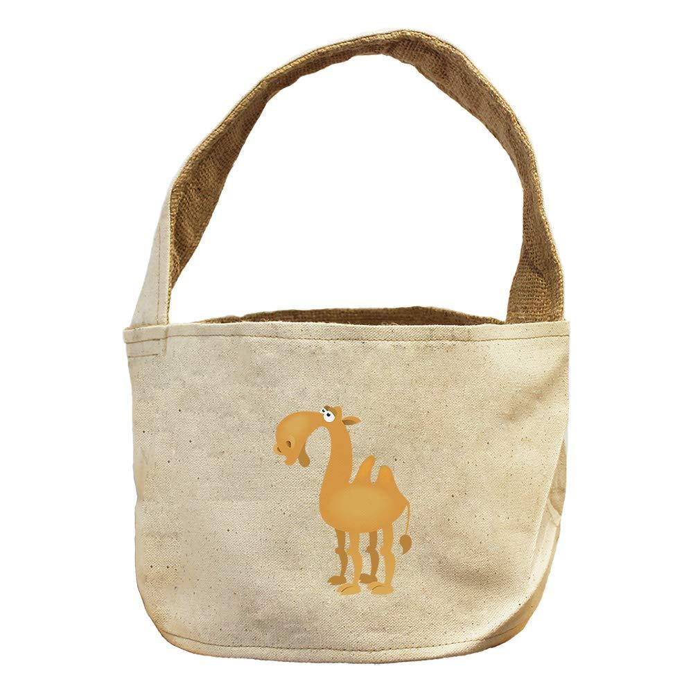Style in Print Camel Cartoon Animals Canvas and Burlap Storage Basket