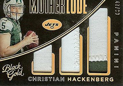 Football NFL 2016 Black Gold Mother Lode Triple Memorabilia Prime  18 Christian  Hackenberg MEM 47 eeb8564fb