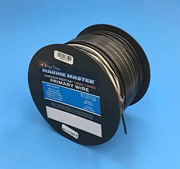 Black USA Made 10 AWG Marine Wire Spool Tinned Copper Primary Boat Cable 100 ft