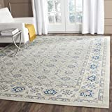 Cheap Safavieh Patina Collection PTN328L Light Blue and Ivory Cotton Area Rug (8′ x 10′)