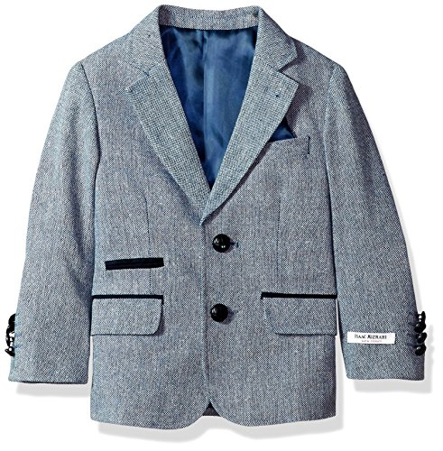 - Isaac Mizrahi Boys' Toddler Tweed Blazer with Suede Contrast, Blue 3