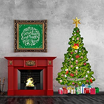 Tree In A Tube Life Size Deluxe Christmas Tree Wall Decal, Reusable And  Repositionable Part 89