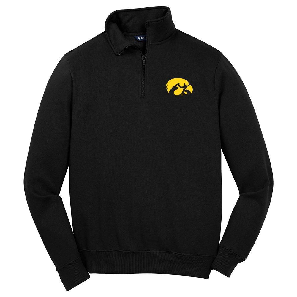 Iowa Hawkeyes Mens 1//4 Zip Pullover X-Large Black