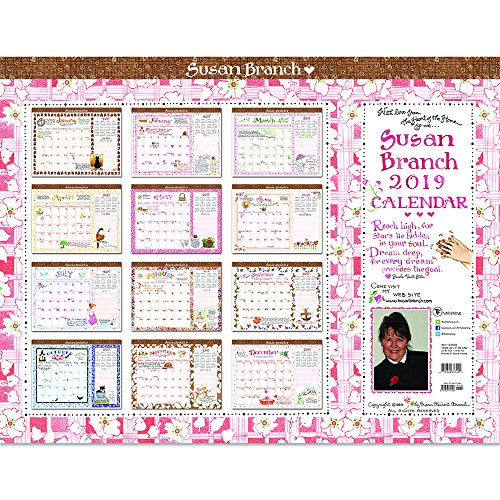Time Factory Susan Branch 22″ x 17″ January -December 2019 Desk Pad Calendar (19-8033)