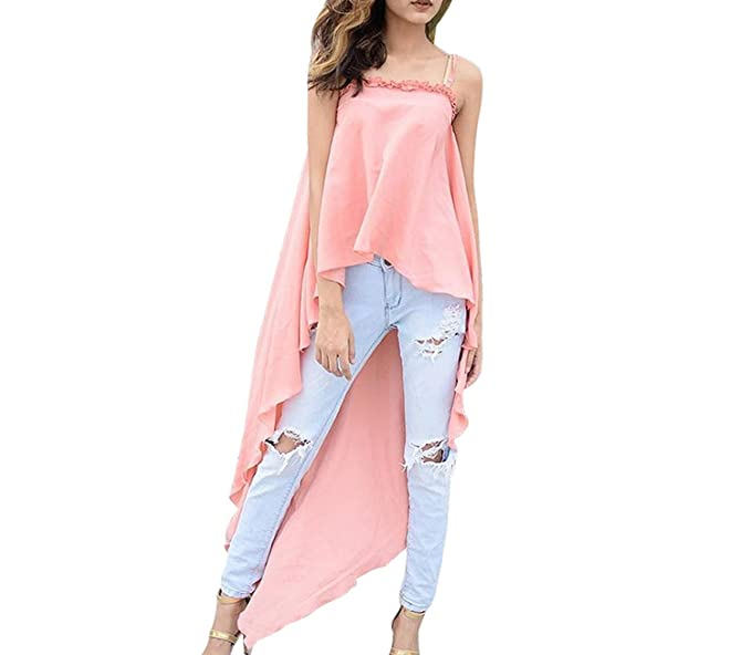 Sleeveless Cute Long Dress Off Shoulder Kawaii Casual Beach Boho Dresses Irregular Vestidos at Amazon Womens Clothing store: