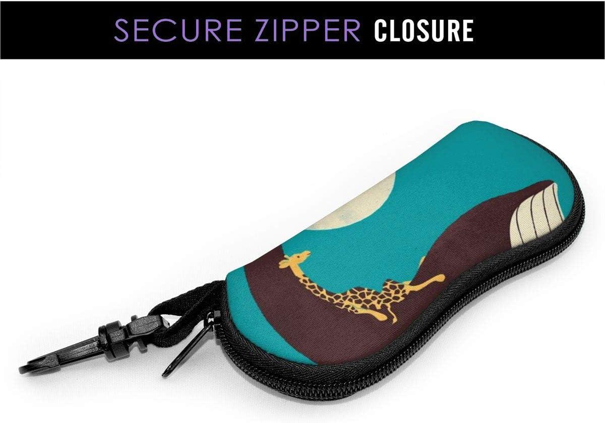 Sunglasses Soft Case Ultra Light Neoprene Giraffe And Whale Zipper Eyeglass Case with Belt Clip