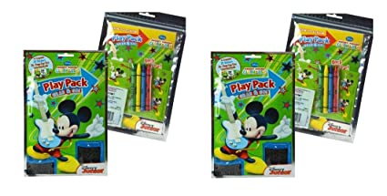 Mickey Grab n Go Play Pack Coloring Sticker Set x 2 Set