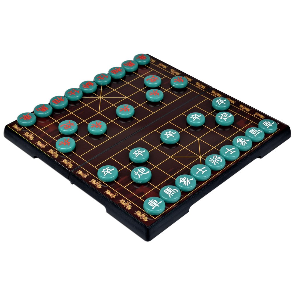 Jade Color Chinese Chess Xiangqi Magnetic Travel Set 12