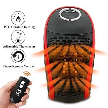 AuLink 400W Eléctrico Ventilador Calentadores Mini calentador portátil con termostato ajustable / temporizador / control remoto / pantalla digital ...
