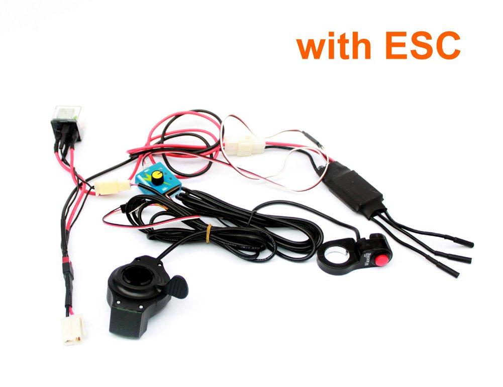 L-高速カスタマイズされた速度制御システムでescとスロットルスイッチ用電気町7xl町9EFスクーターベルトドライブ装置 B078VNYRDM kit 1 WithESC