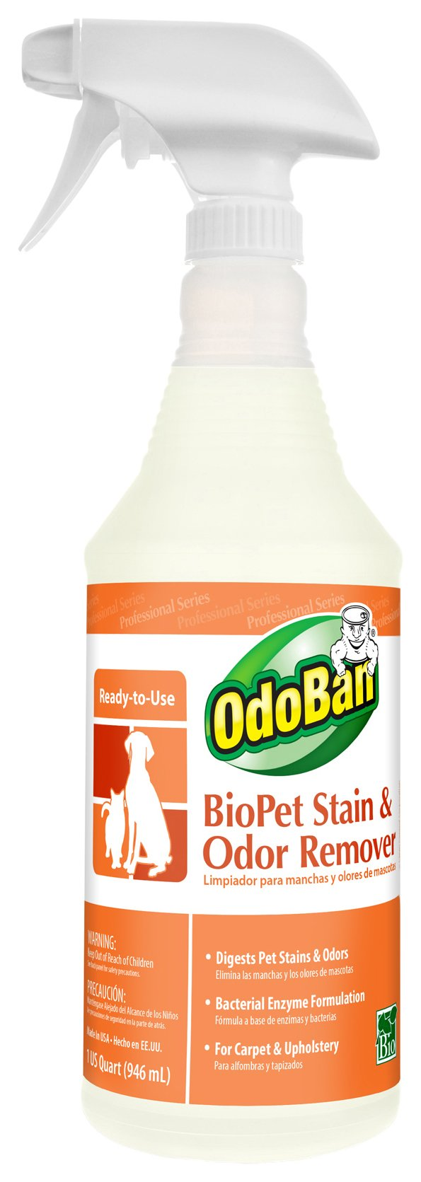 OdoBan 926262-QC12 Ready-to-Use BioPet Stain and Odor Remover (Pack of 12) by OdoBan (Image #1)