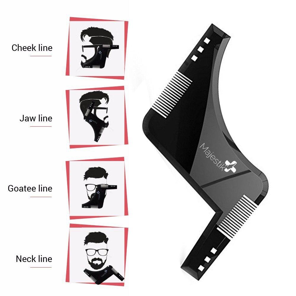 Plantilla y peine de barba para hombres. Talla única en Negro: Amazon.es: Belleza
