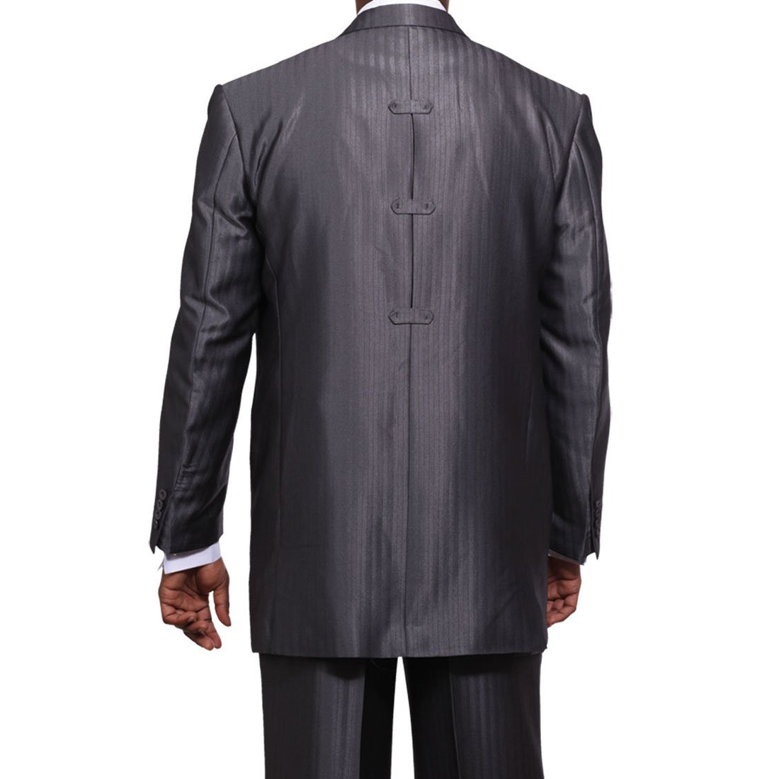 Milano Moda Men's 3 Piece Set Luxurious Wool Feel Suit HL5264 New York Brand by Milano Moda (Image #4)