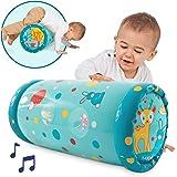 """LUDI - Baby roller """"Lapin"""" 40 x 25 x 20 cm dès 6 mois. Rouleau gonflable qui développe la motricité des enfants. 6 balles sonores à faire circuler - 30005"""