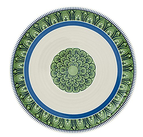 Villeroy & Boch Casale Bella Salatteller, Porzellan, Blau/Weiß/Grün, 22cm