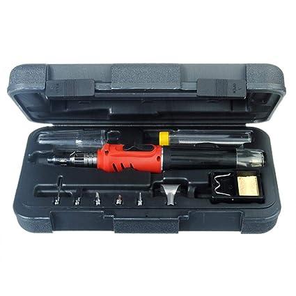 HS- 1115K 10 en 1 kit del soldador del gas sin cuerda Herramienta de la