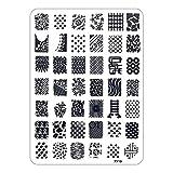 Decor Plate Template Nail Art Stamping XY Series Pattern XY19