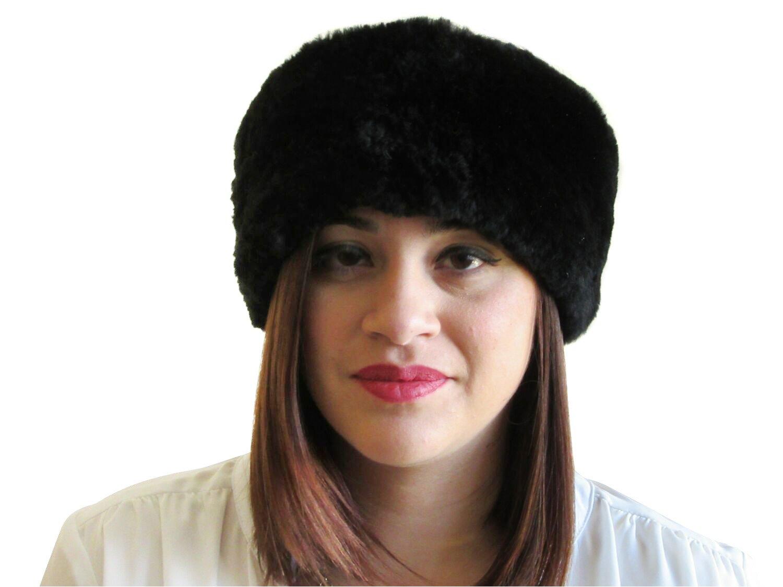 Black Sheared Beaver Headband, Neck Warmer & Collar