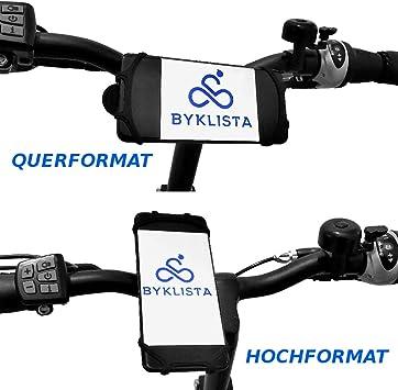 BYKLISTA - Soporte de móvil para Bicicleta (Silicona Duradera, fácil Montaje en el Manillar, Antideslizante, Flexible y Seguro), Color Negro: Amazon.es: Electrónica