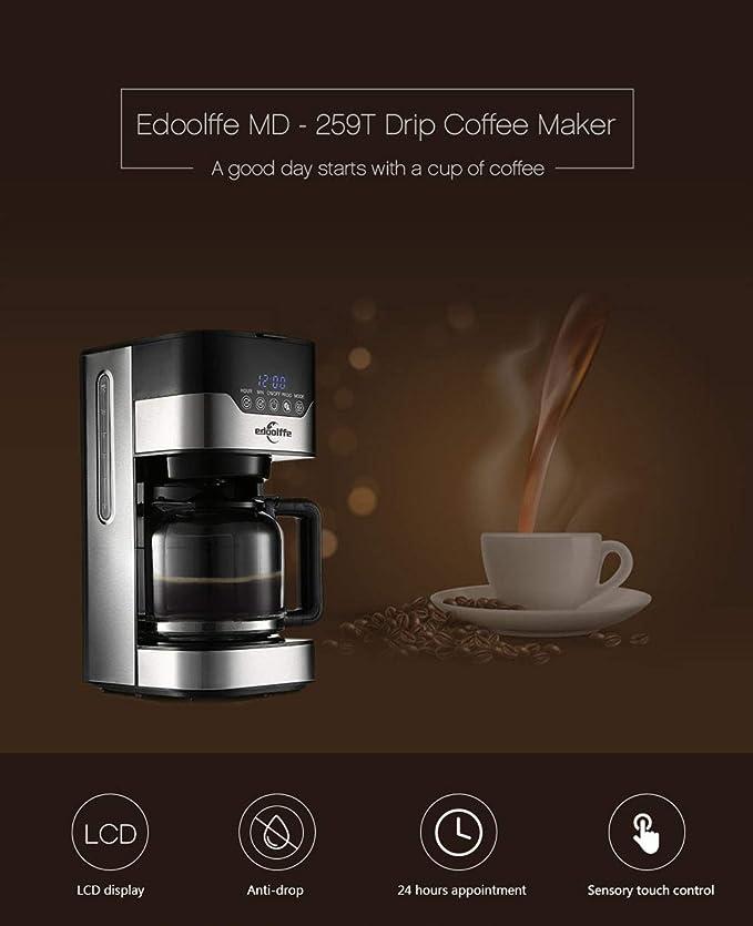 JHSHENGSHI Cafetera, Máquina de café de Filtro, Diseño Elegante ...
