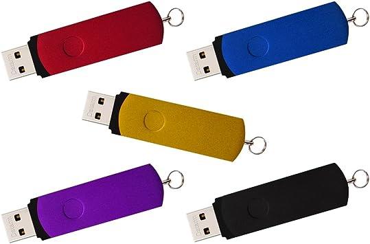 Datarm 5 Piezas Pendrives 16GB Robusto Unidad Flash USB con Giratorio Diseño-5 Colores: Amazon.es: Electrónica