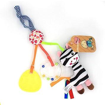 Cartoon Plush Animal Rattle Bell Stroller Baby Cart Hanging Pendant Musical Toys