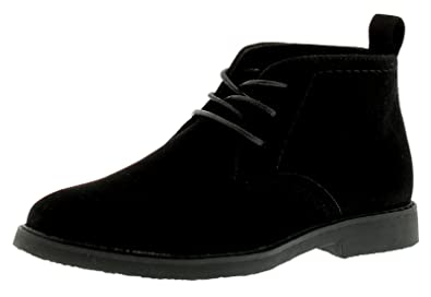 3e6a1aabc3649 Wynsors New Older Boys/Childrens Black Lace Ups Desert Boots - Black - UK  Size