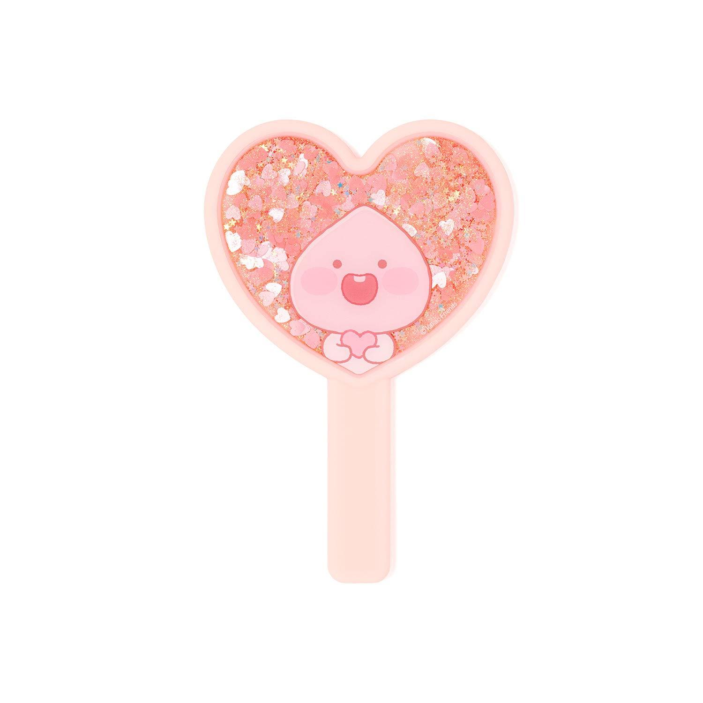 KAKAO FRIENDS Official- Lovely Apeach Glitter Hand Held Mirror (Pink)