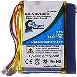 Garmin Nuvi 205 互換バッテリー : Garmin NUVI-200 GPS バッテリー対応 (1300mAh, 3.7V, リチウムイオン)