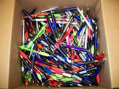 500 Lot Misprint Ink Pens, Ball Point, Plastic, Retractable