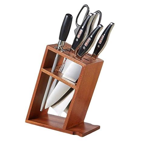 Compra ZAIYI-Knife rack Soporte para Cuchillos de Madera ...