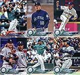 2018 Topps Seattle Mariners Team Set of 11 Baseball Cards (Series 1): Ariel Miranda(#116), James Paxton(#143), Jean Segura(#144), Mike Leake(#163), Seattle Mariners(#176), Seattle Slayers (Cano, Motter)(#205), Nelson Cruz(#220), Robinson Cano(#240), Nelson Cruz(#253), Edwin Diaz(#321), Hisashi Iwakuma(#348)