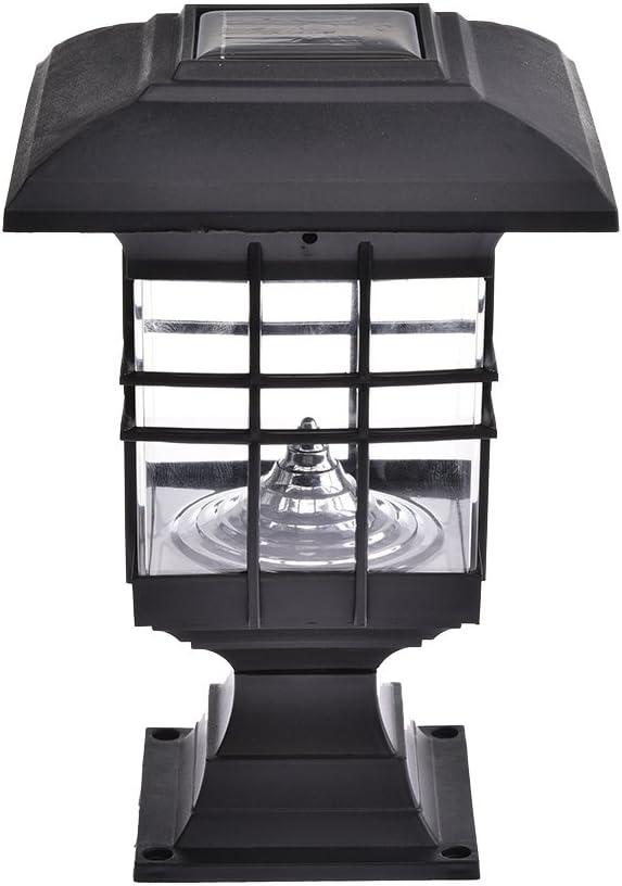 Bloomma Luces solares del Poste, lámpara Solar al Aire Libre Impermeable del Pilar del LED para la iluminación de la calzada,del jardín,del Patio,del Paisaje y de la Noche de la Calle: Amazon.es: