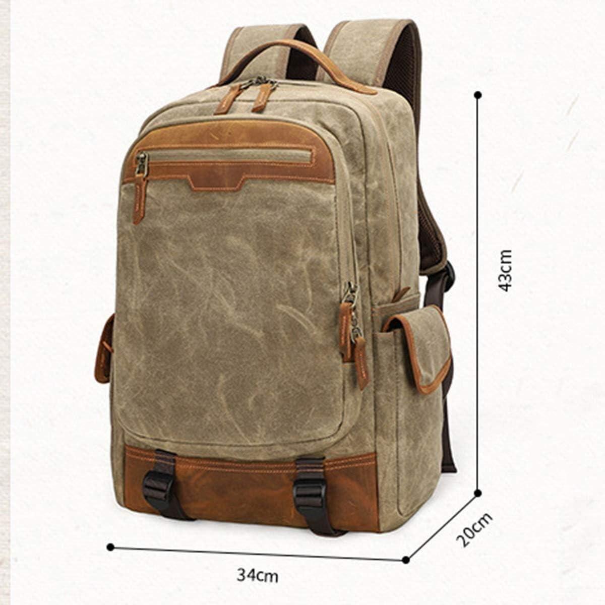 Yikuo Dark Grey Photo Backpack Outdoor Canvas Bag SLR Bag Camera Backpack //34 X 20 X 43 cm Breathable