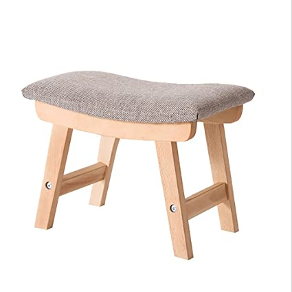 LQQGXL European Chair Cloth Stool, Fashion Creative Shoes Bench Simple  Stool Solid Wood Sofa Stool