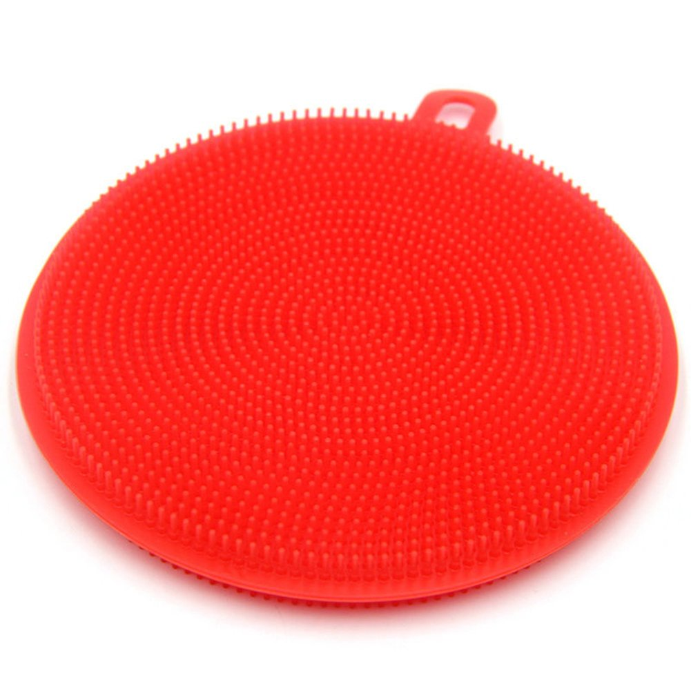 FinancePlan Soft Silicone Sponge Scrubber Fruit Dish Washing Household Cleaning Kitchen Tool