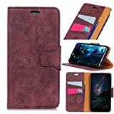 Scheam Alcatel U5 (4G) Case, [Portable Wallet ] [ Slim Fit ] Heavy Duty Protective Excellent Flip Cover Wallet Case Alcatel U5 (4G) - Purple