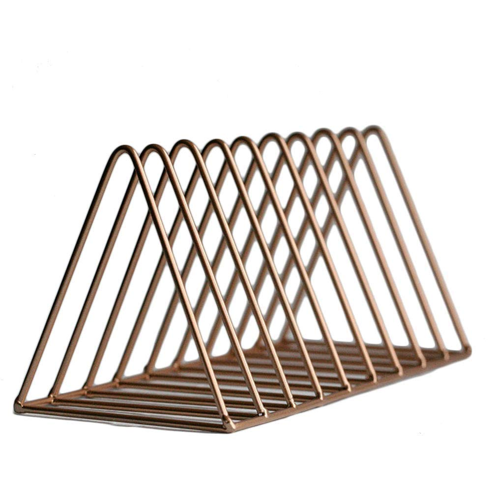 pink gold 26 x 11 x 12cm Shiyanghang Storage Rack Bookshelf Creative Book Newspaper Rack Rack Simple Desktop Book Stand -Fashion Ideas (color   gold, Size   26 x 11 x 12cm)