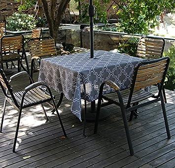 Amazon.com: Do4U Waterproof Table Cloth Indoor/Outdoor Tablecloth ...