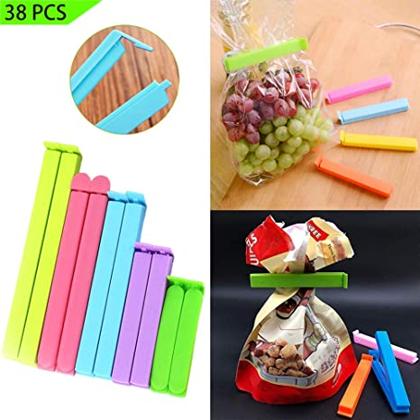 Amazon.com: Radical 8 38 clips de sellado para alimentos, 4 ...