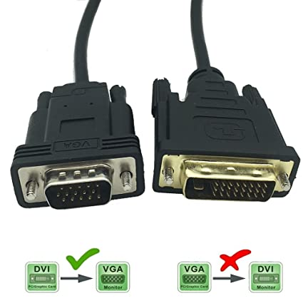 DVI-D Male 24+1 pin to Male Video Monitor Cable Cord Adapter Converter 1.8m 6ft