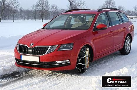 Compass Schneeketten Snow 12mm Für Reifen 205 60 R16 Önorm TÜv Geprüft 090 1 Paar Extra Stark Auto