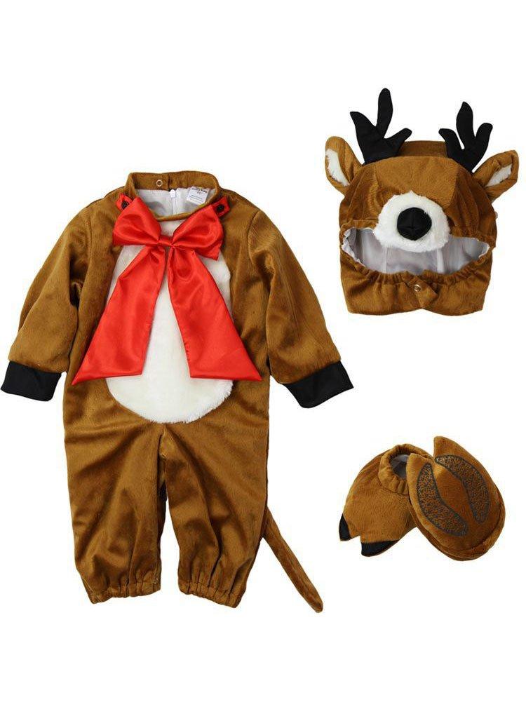 Gamery Santa Snowman Elf Christmas Costume for Kids Baby Girl Boy Infant Toddler Cosplay Reindeer 13-18 Months by Gamery (Image #2)